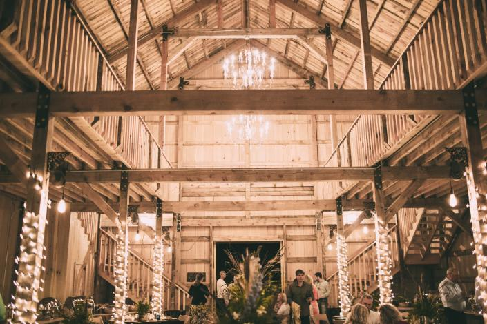 [Image: Our rustic barn is the ideal venue for your next event. We can customize the decor and add lighting for your dream wedding or special event. ]