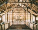 Our rustic barn has gorgeous details, the chandeliers are a favorite detail to most of our customers.